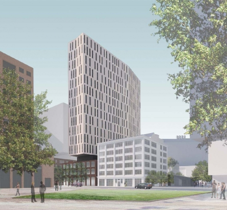 Rendering of new MIT graduate student tower
