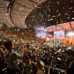 More than 1,000 people packed MIT's Kresge Auditorium for the 2.009 final product presentations, a major fall-semester event known not only for innovative products presented by students, but also for non-stop fun, music, and confetti.
