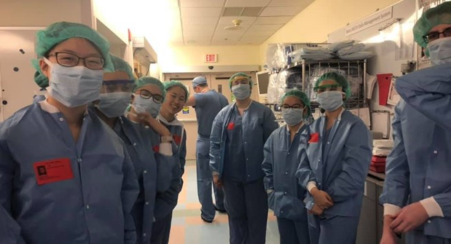 MIT students in the OR