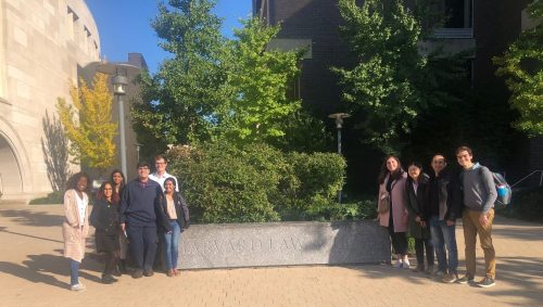 MIT students and alumni touring Harvard Law School