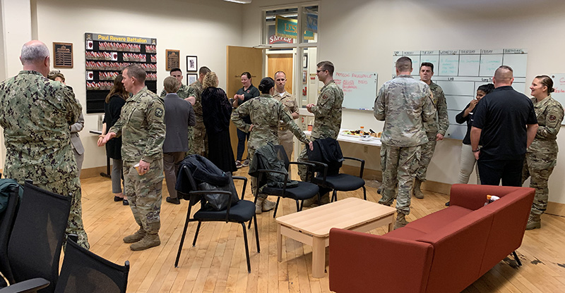 ROTC hosted a social for members of the OVC HQ staff in W59.