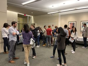 Students and alumni connecting at the Mixer event