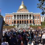 Lecturer Susan Murcott met many members of her EC.719 / EC.789 (Water, Climate Change, and Health) D-Lab class for the first time at the Boston climate strike on Sept. 20, 2019.